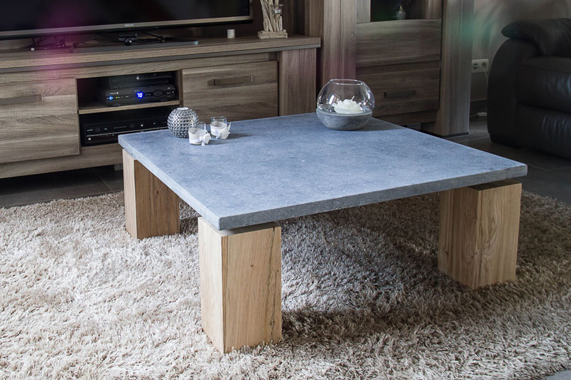 table basse en pierre bleue bois jeliodesign