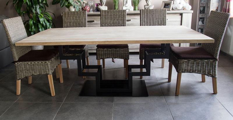 table-haute-bois-acier
